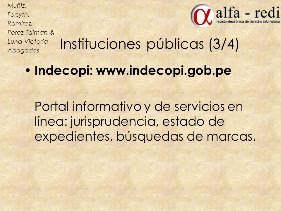 Instituciones públicas (3/4)