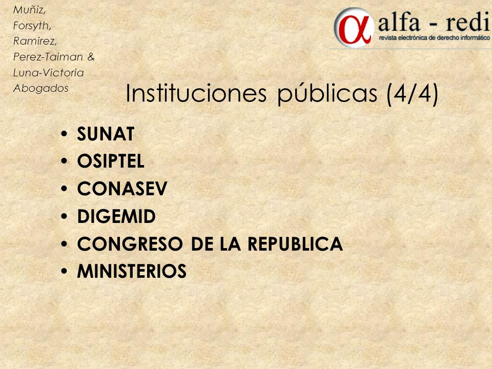 Instituciones públicas (4/4)