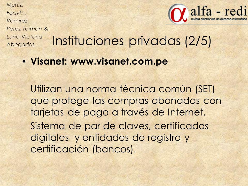 Instituciones privadas (2/5)