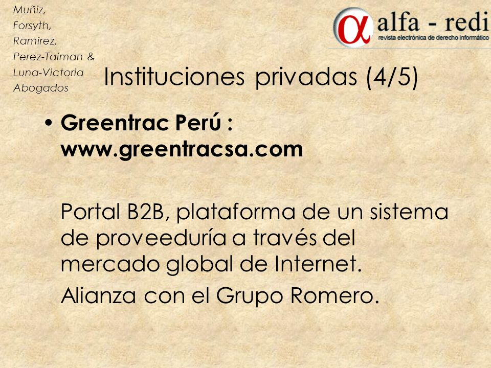 Instituciones privadas (4/5)