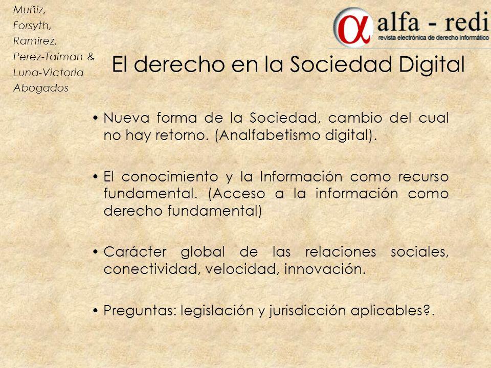El derecho en la Sociedad Digital