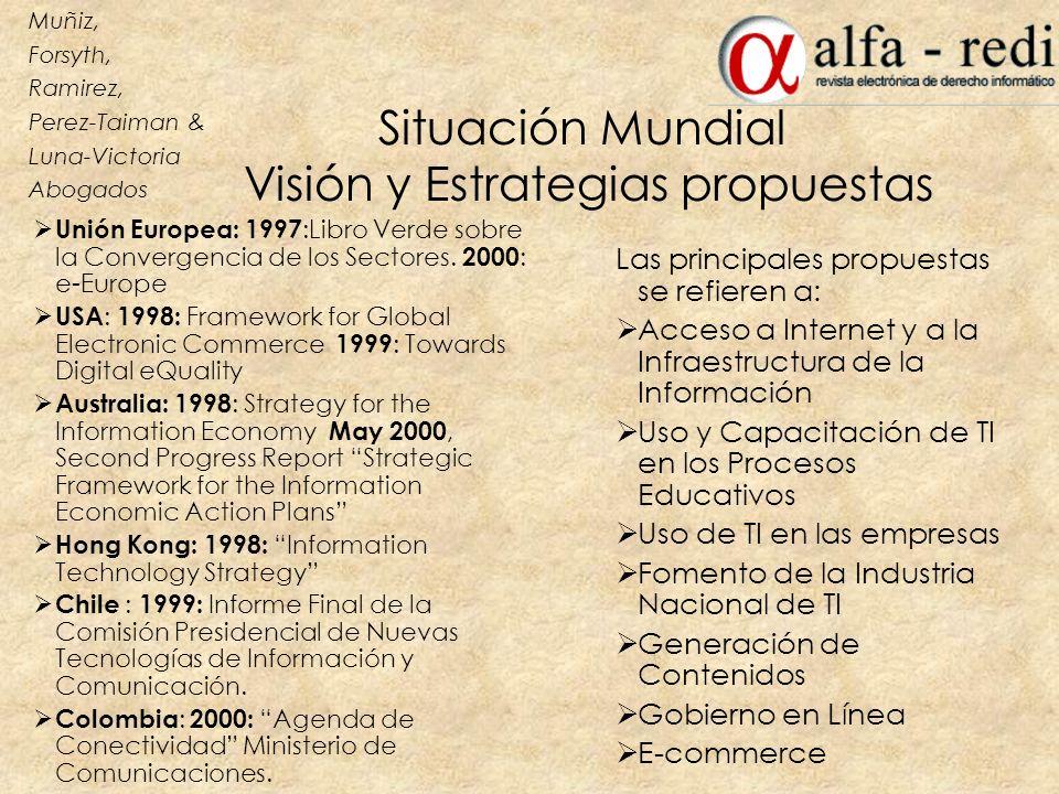 Situación Mundial Visión y Estrategias propuestas