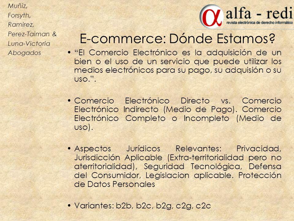 E-commerce: Dónde Estamos