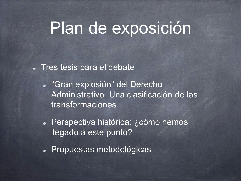 Plan de exposición Tres tesis para el debate