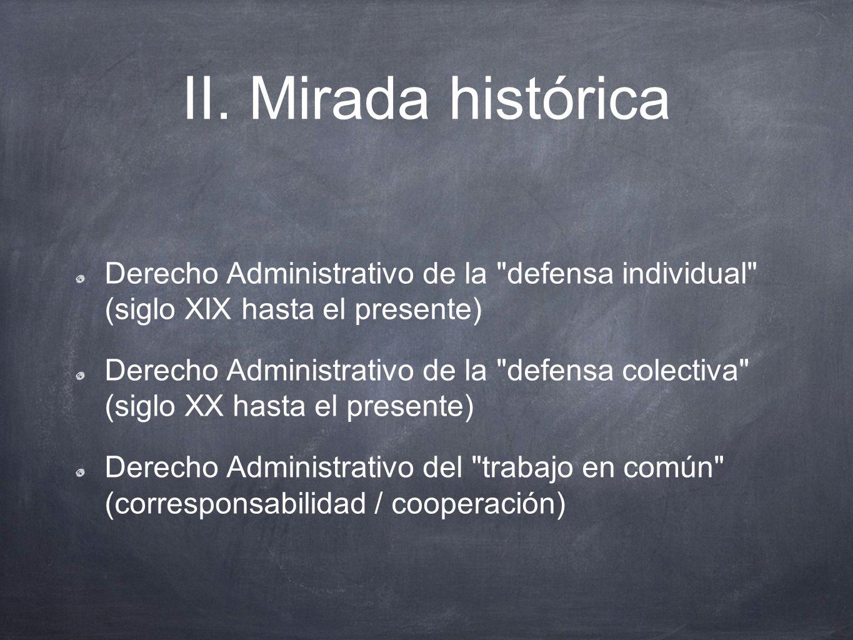 II. Mirada histórica Derecho Administrativo de la defensa individual (siglo XIX hasta el presente)