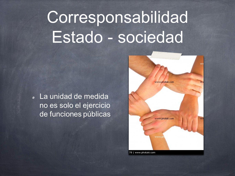 Corresponsabilidad Estado - sociedad