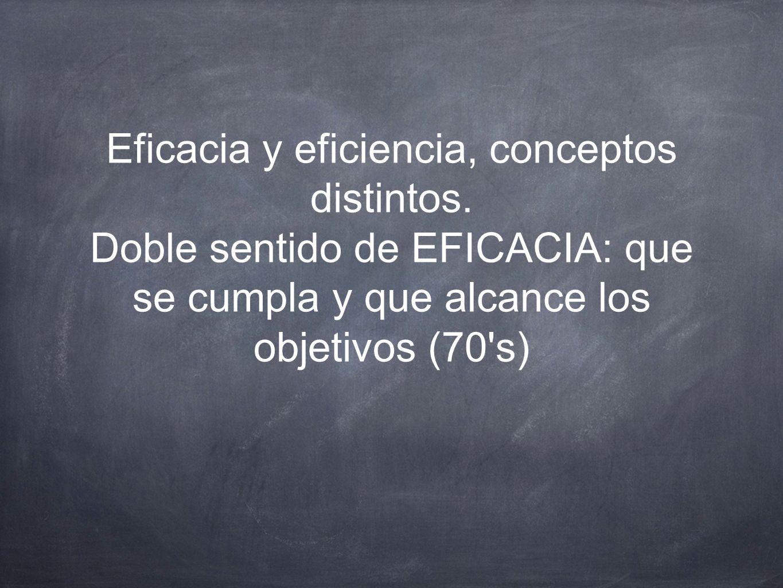Eficacia y eficiencia, conceptos distintos