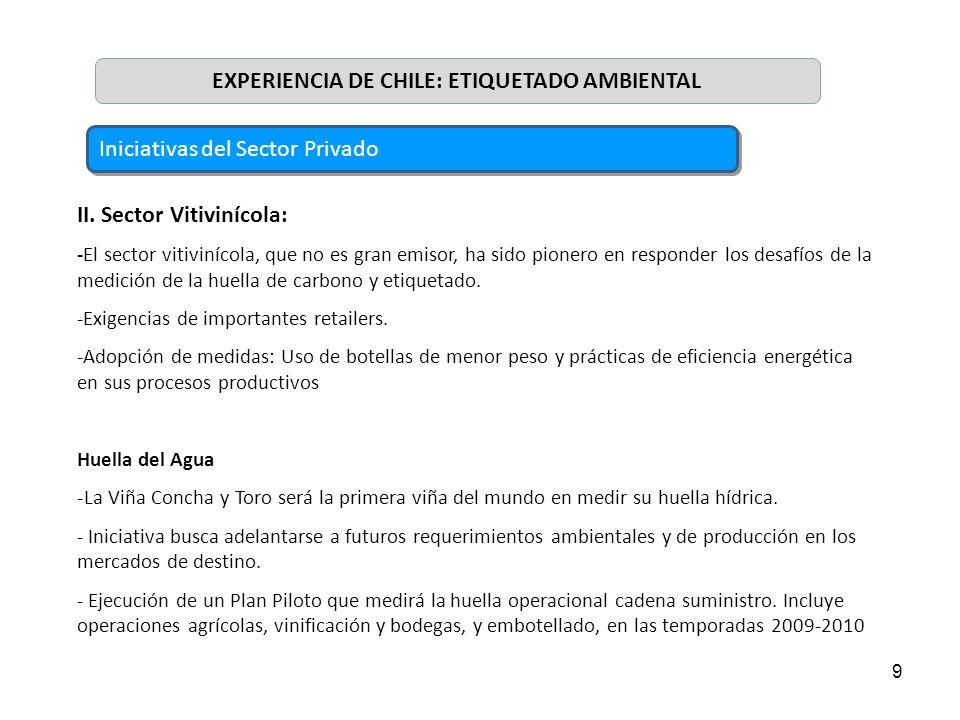 EXPERIENCIA DE CHILE: ETIQUETADO AMBIENTAL