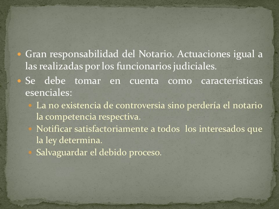 Se debe tomar en cuenta como características esenciales: