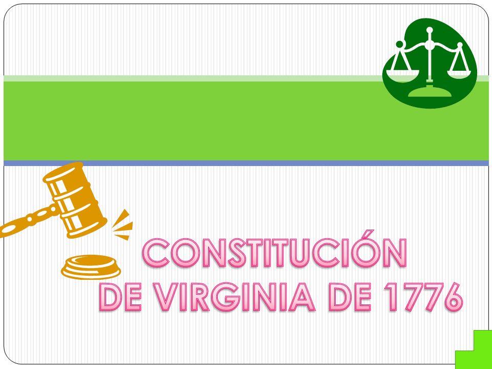 CONSTITUCIÓN DE VIRGINIA DE 1776