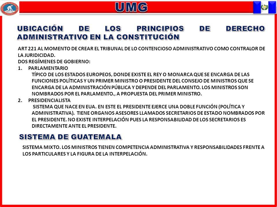 UBICACIÓN DE LOS PRINCIPIOS DE DERECHO ADMINISTRATIVO EN LA CONSTITUCIÓN