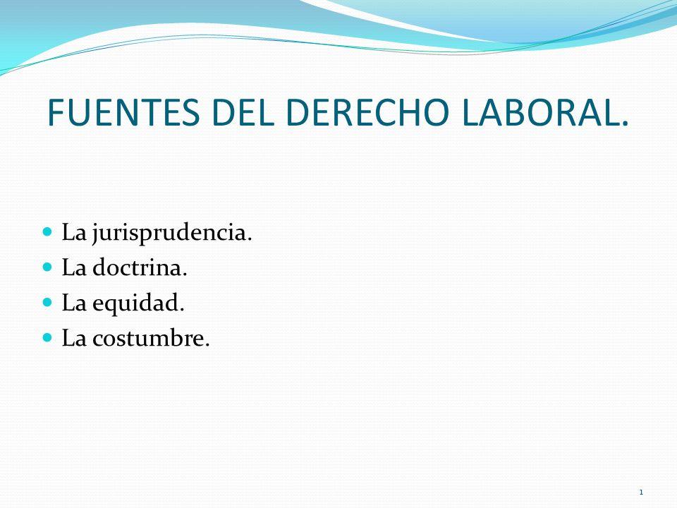 FUENTES DEL DERECHO LABORAL.