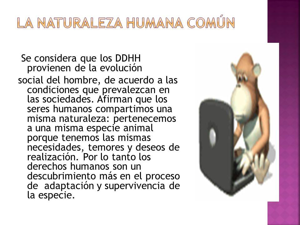 LA NATURALEZA HUMANA COMÚN