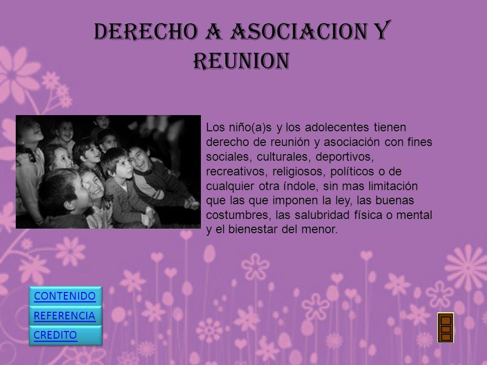 DERECHO A ASOCIACION Y REUNION