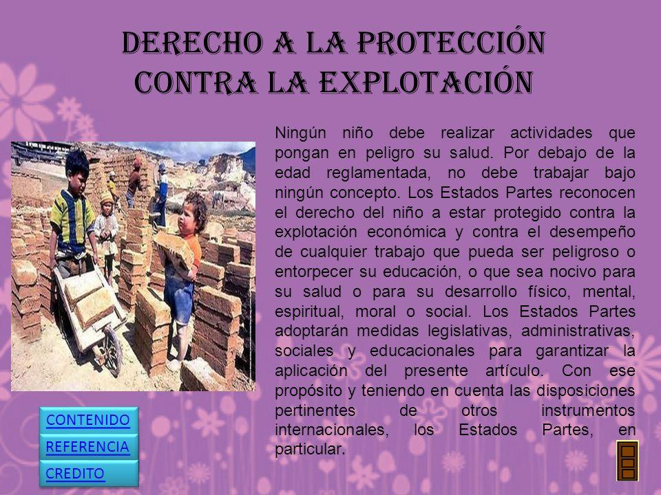 DERECHO A LA PROTECCIÓN CONTRA LA EXPLOTACIÓN