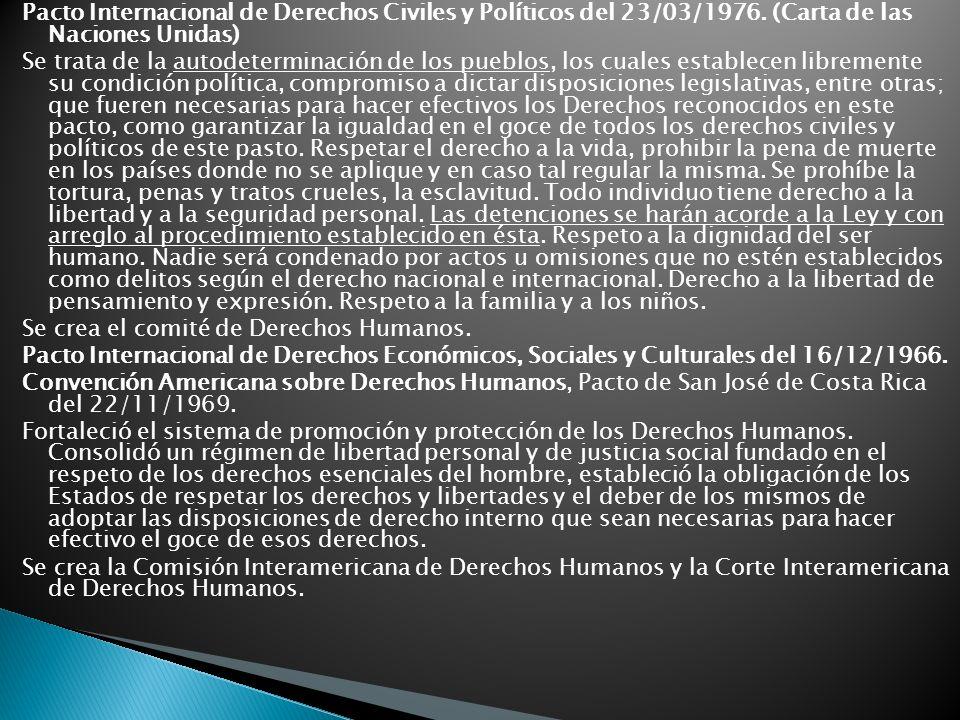 Pacto Internacional de Derechos Civiles y Políticos del 23/03/1976