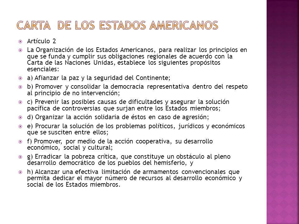 Carta de los estados americanos