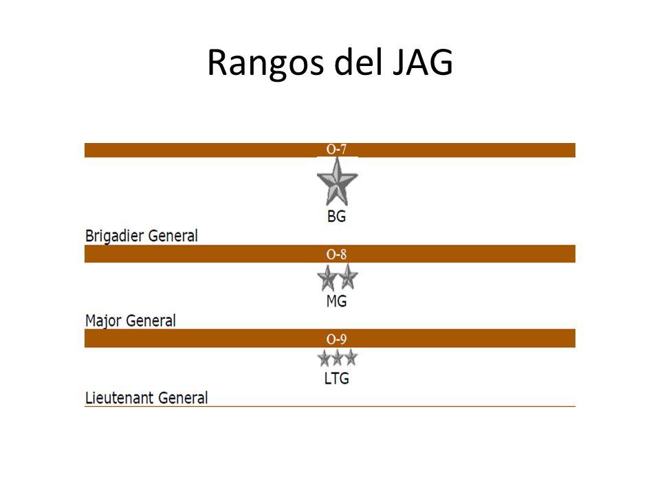 Rangos del JAG