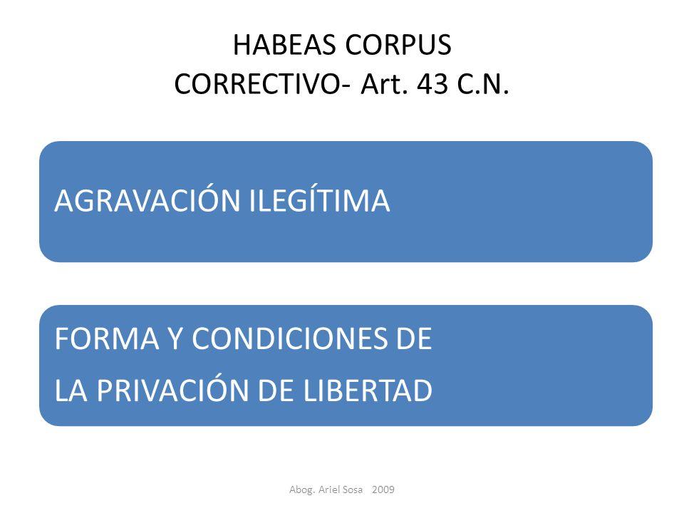 HABEAS CORPUS CORRECTIVO- Art. 43 C.N.
