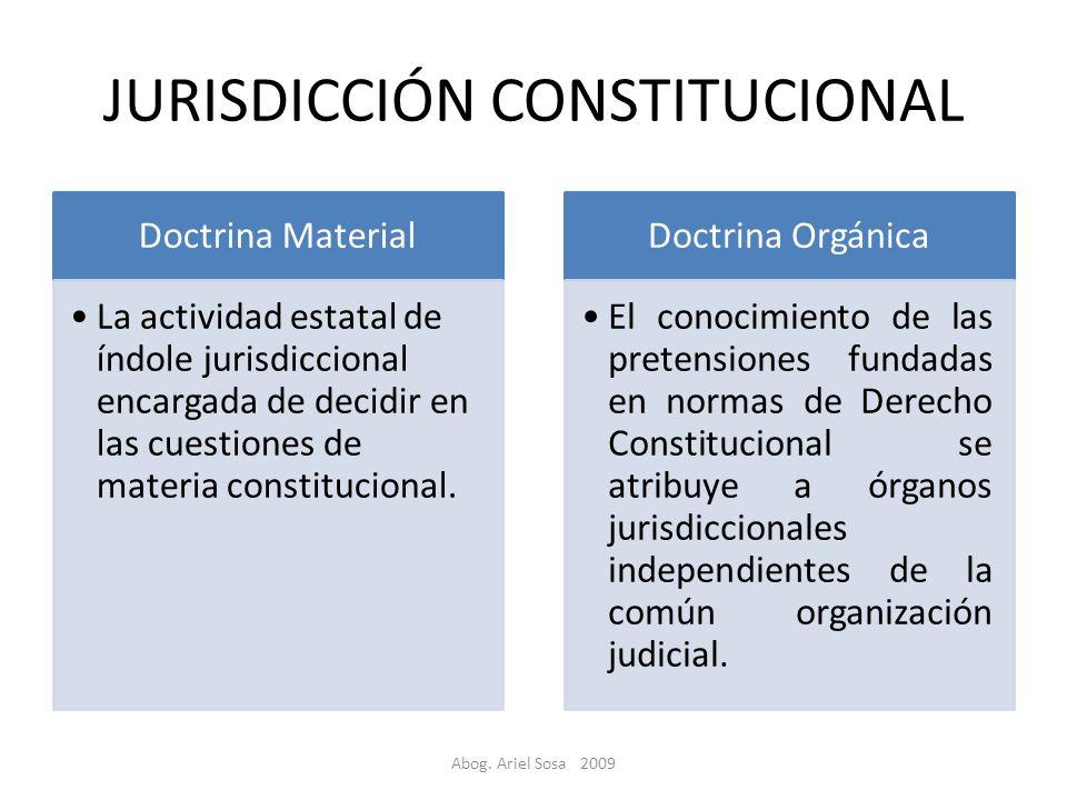 JURISDICCIÓN CONSTITUCIONAL