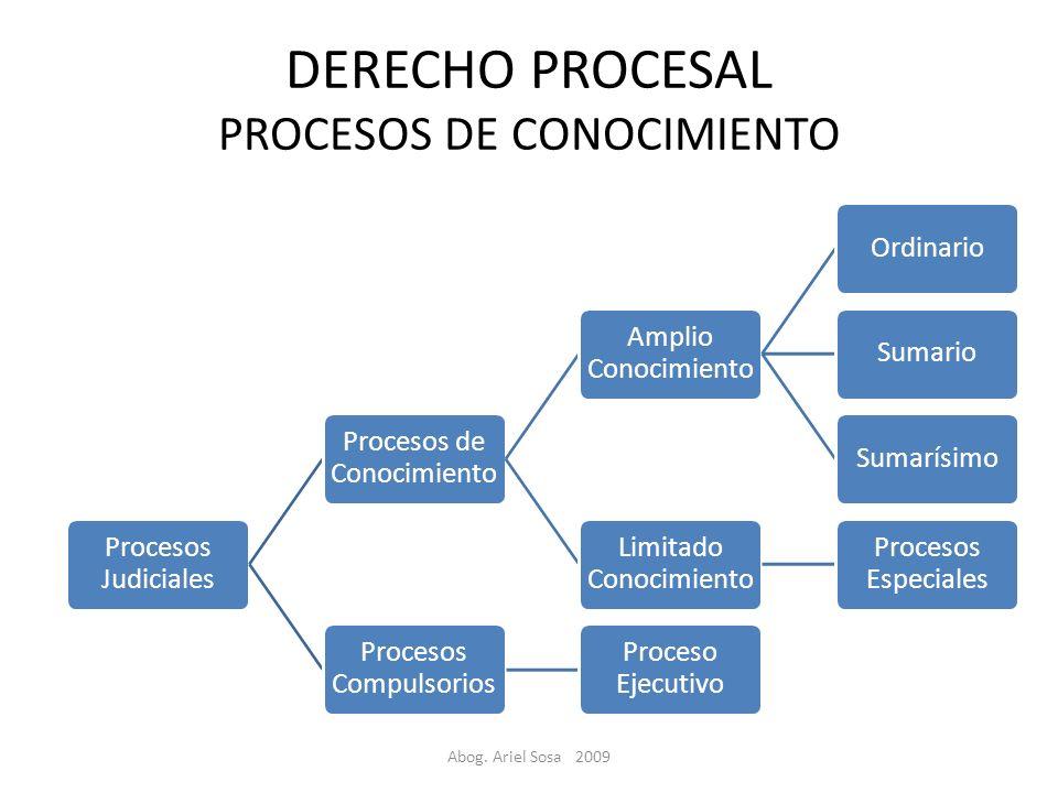 DERECHO PROCESAL PROCESOS DE CONOCIMIENTO