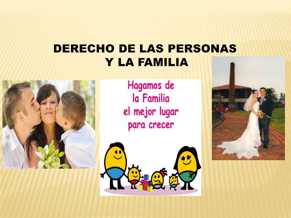 DERECHO DE LAS PERSONAS