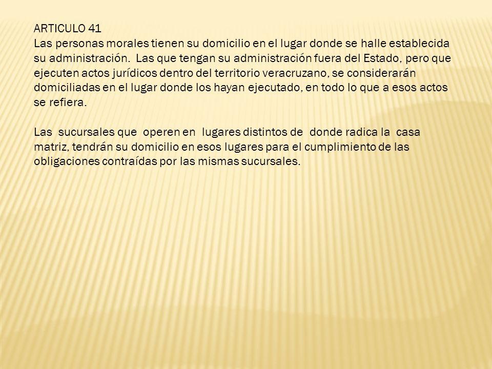 ARTICULO 41
