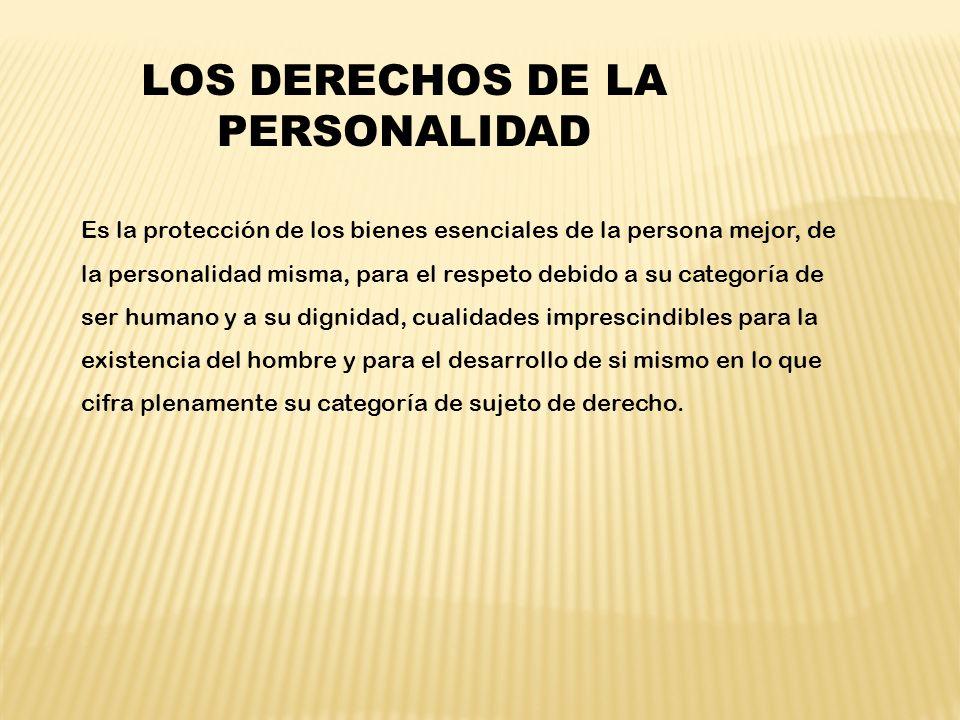 LOS DERECHOS DE LA PERSONALIDAD