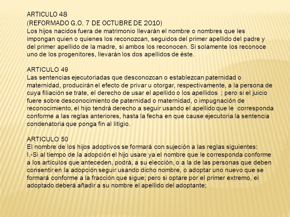 (REFORMADO G.O. 7 DE OCTUBRE DE 2010)