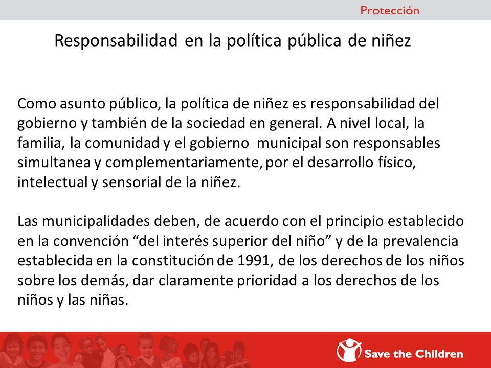 Responsabilidad en la política pública de niñez