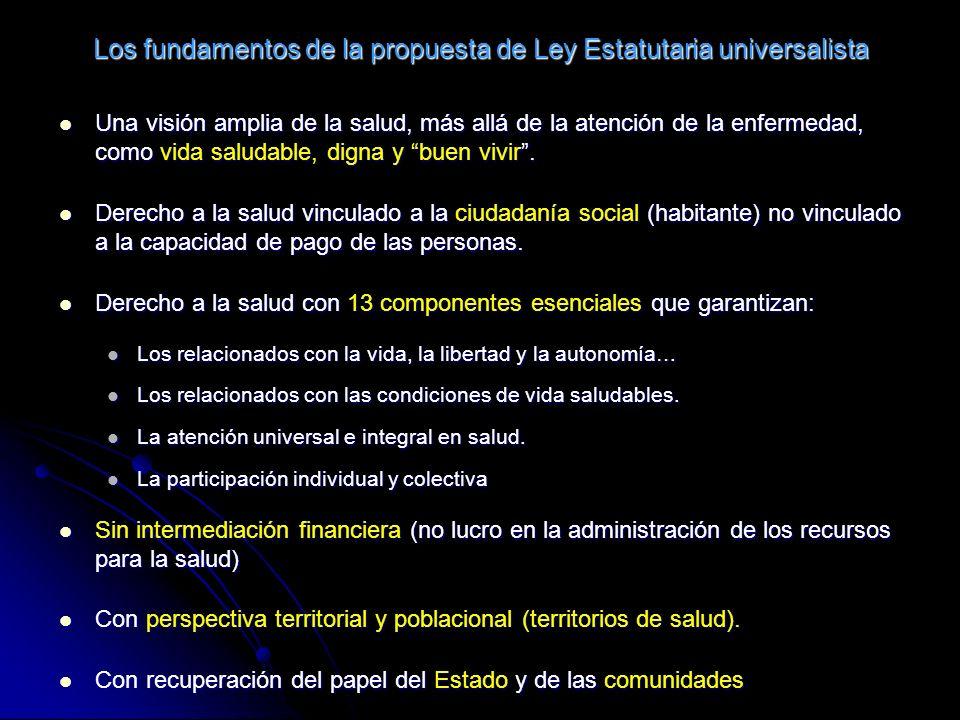 Los fundamentos de la propuesta de Ley Estatutaria universalista