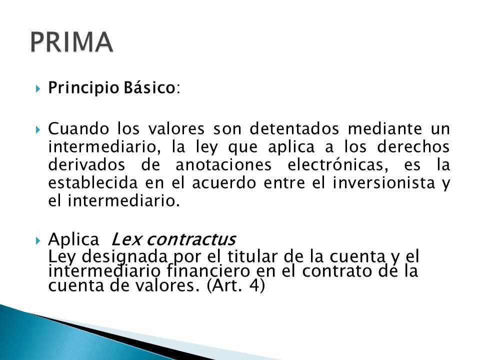 PRIMA Aplica Lex contractus