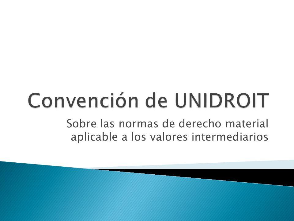 Convención de UNIDROIT
