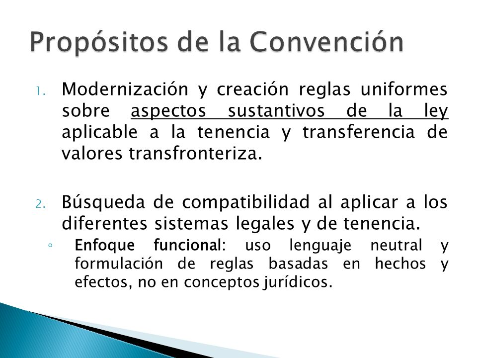 Propósitos de la Convención
