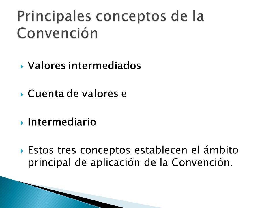 Principales conceptos de la Convención