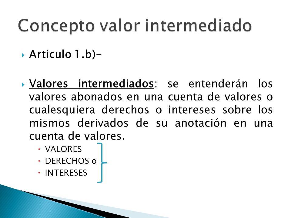 Concepto valor intermediado