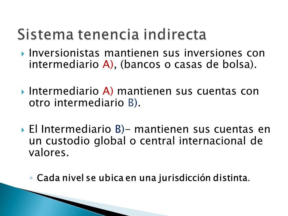 Sistema tenencia indirecta