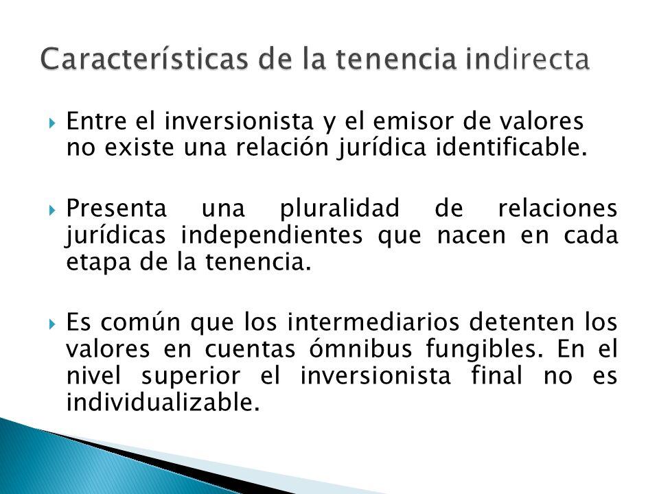 Características de la tenencia indirecta