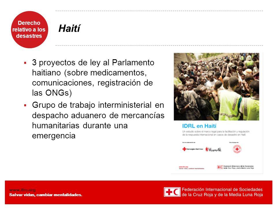 Haití 3 proyectos de ley al Parlamento haitiano (sobre medicamentos, comunicaciones, registración de las ONGs)