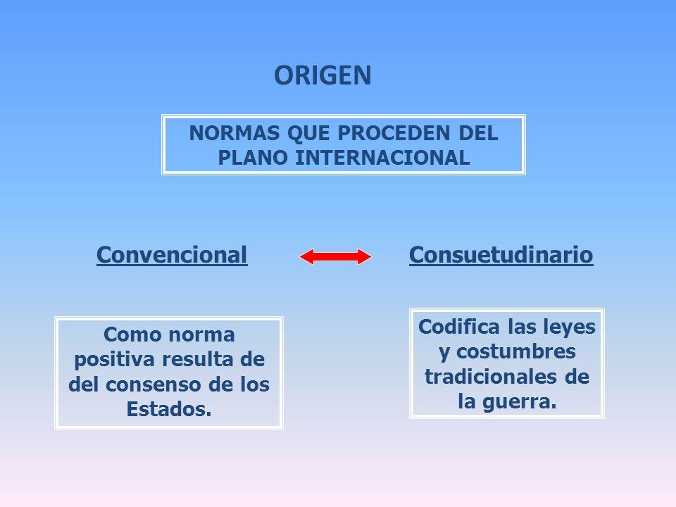 ORIGEN Convencional Consuetudinario