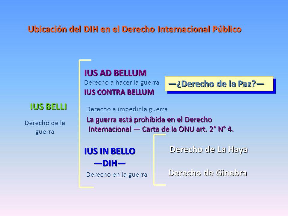 Ubicación del DIH en el Derecho Internacional Público