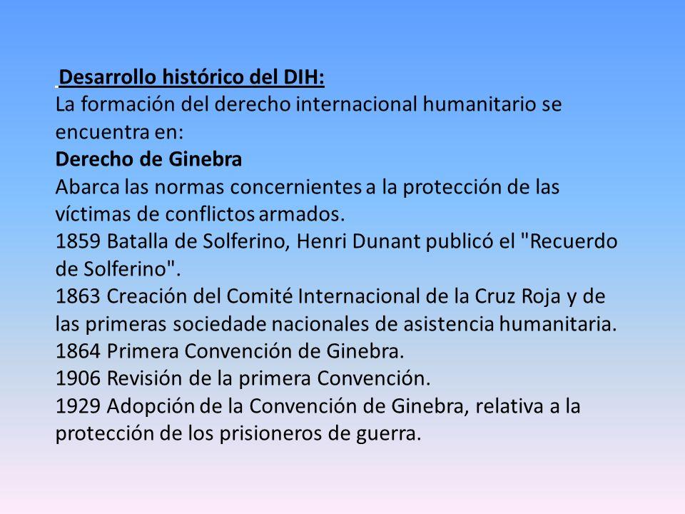 La formación del derecho internacional humanitario se encuentra en: