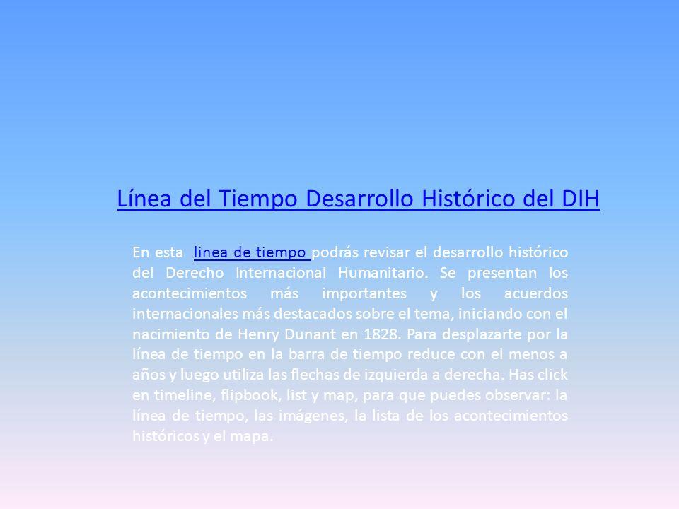 Línea del Tiempo Desarrollo Histórico del DIH