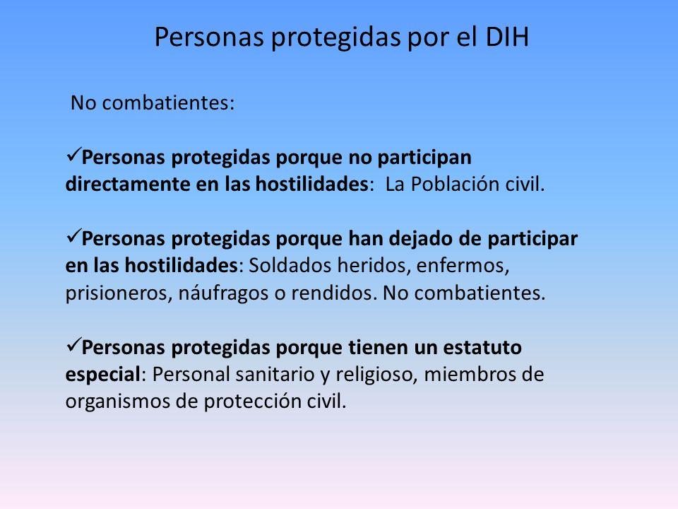Personas protegidas por el DIH