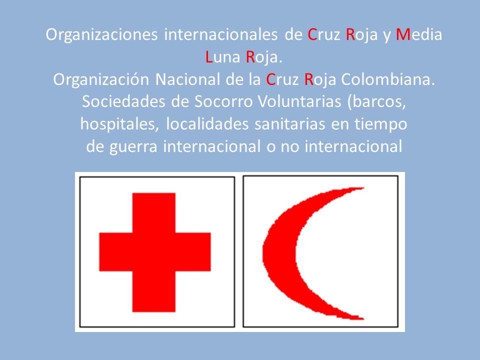 Organizaciones internacionales de Cruz Roja y Media Luna Roja