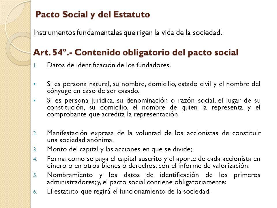 Pacto Social y del Estatuto