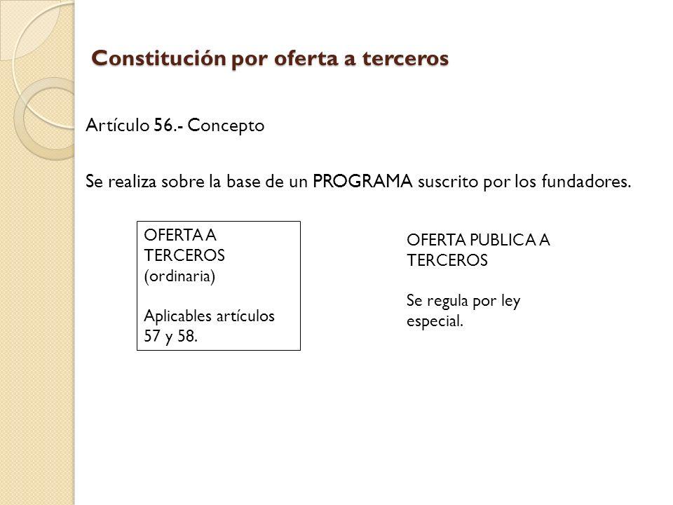 Constitución por oferta a terceros