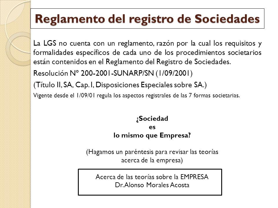 Reglamento del registro de Sociedades
