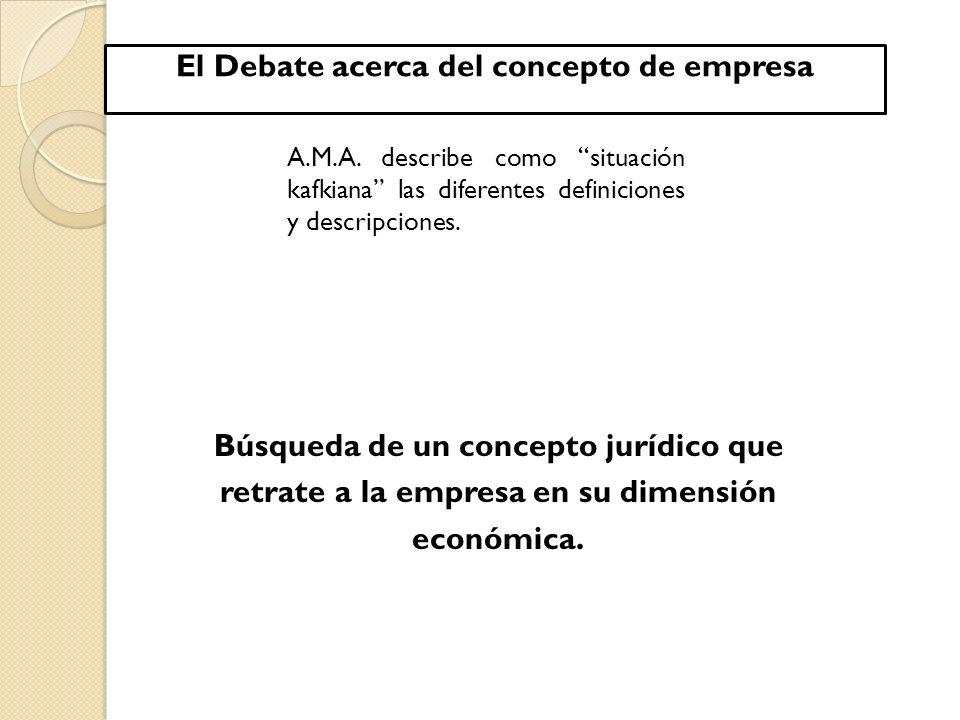 El Debate acerca del concepto de empresa