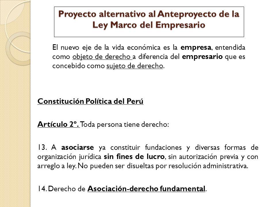 Proyecto alternativo al Anteproyecto de la Ley Marco del Empresario